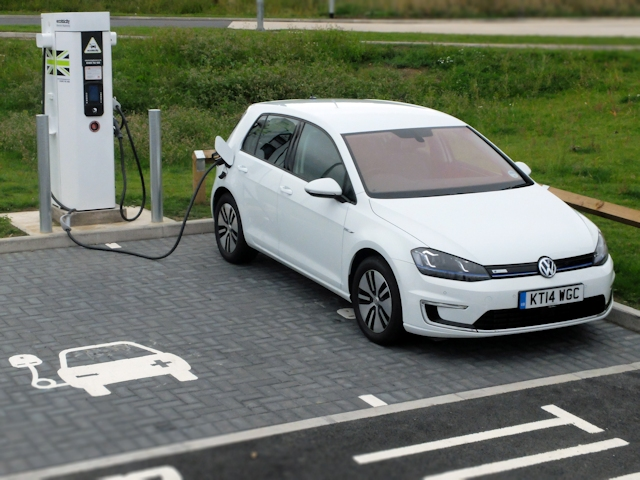 Electric Car Charging Gif